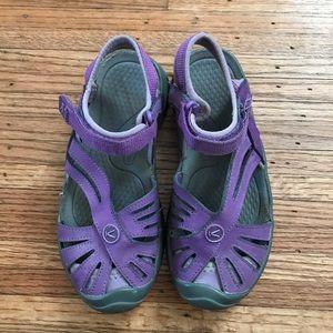Keen Girls Waterproof Purple Gray Sandals 1
